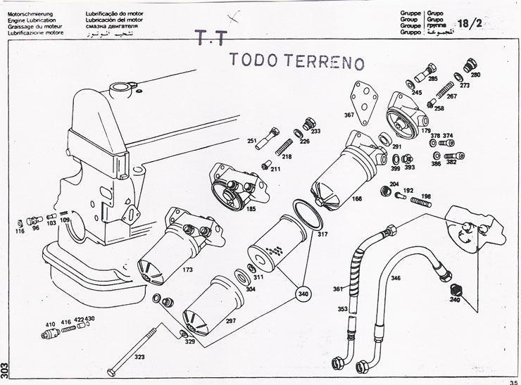 mercedes benz   240 lubricacion del motor
